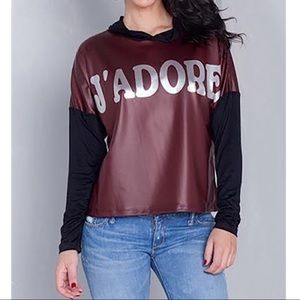 J'Adore Hooded Longsleeve Shirt